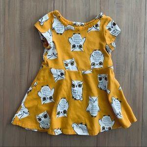 Cat & Jack | Mustard Owl Print Dress